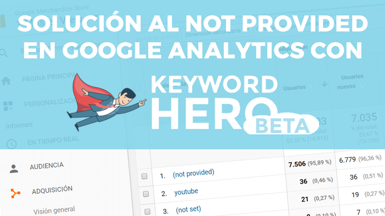 Solución al not provided en Google Analytics con Keyword Hero