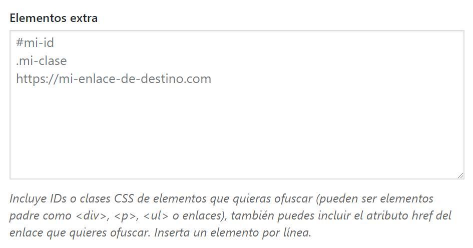 Ofuscar enlaces mediante su ID, clase CSS o atributo href