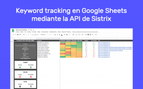 Keyword tracking en Google Sheets mediante la API de Sistrix